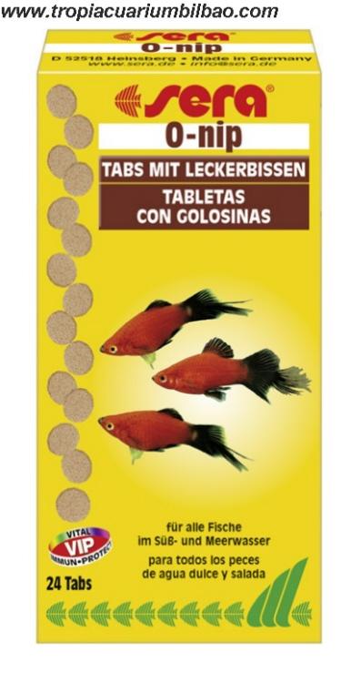 Sera onip 24 tabletas for Acuariofilia peces ornamentales